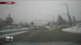 Snow, ice on highways as system crosses northern Arizona