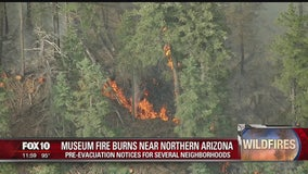 Museum Fire burns 1,000 acres near Flagstaff