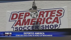 Sales for World Cup merchandise booming at Phoenix sports store