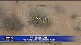 Man, woman saved from rushing water in Pinal County