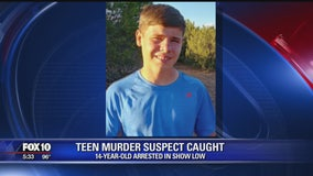 14-year-old murder suspect caught in Navajo County