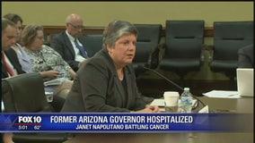 Former Arizona Governor Janet Napolitano hospitalized for cancer treatment