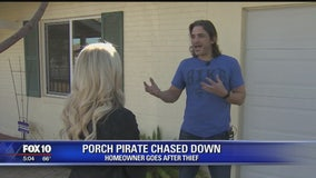 Phoenix man chases off porch pirate from stealing packages