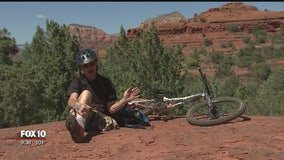 One-legged mountain biker speaks about his journey