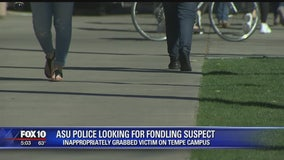 Man fondled woman at ASU's Tempe campus; suspect sought