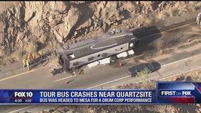 Bus driver killed in crash near Quartzsite