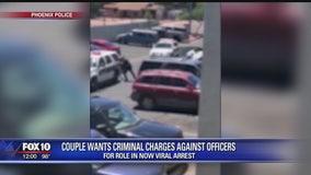 Couple's representative seeks firing of Phoenix officers