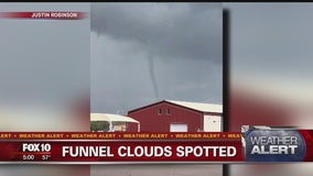 Funnel cloud spotted as Valley deals with stormy day