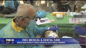 Free medical, dental care services offered at Phoenix Convention Center