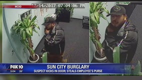 MCSO: Suspect kicks in door, steal's employee's purse