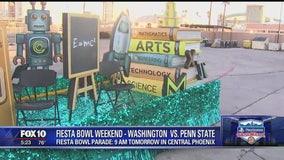 Fiesta Bowl Parade preps underway in Phoenix