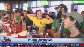Mexico fans watch in Laveen, as team was defeated