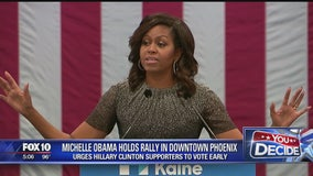 Michelle Obama holds rally in Phoenix