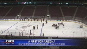 Arizona's first special needs hockey team plays first game