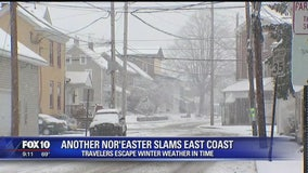 Travelers escape to sunshine and warmth as second nor'easter hits east coast