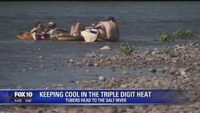 Valley residents flock to Salt River to stay cool