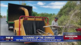 Mesa cleans up after monsoon damages neighborhood
