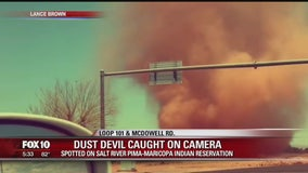 Dust devils in Scottsdale caught on camera