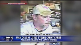 Man accused of using stolen credit cards