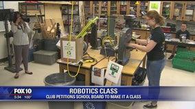 Saguaro High School Robotics club successfully petitioned school board to make it a class