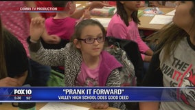 PRANK IT FORWARD: High school seniors in San Tan Valley help girl