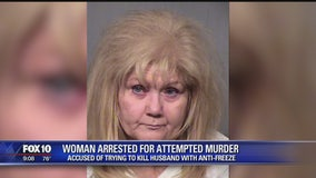 Cave Creek woman accused of using anti-freeze to poison her husband