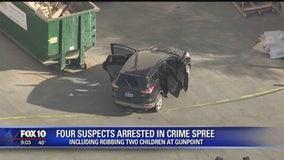 Crime spree involved robbing 2 children at gunpoint