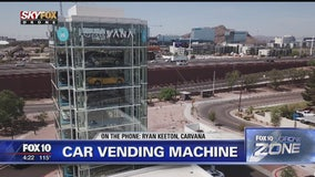 DRONE ZONE: Taking a look at Tempe's Carvana car vending machine