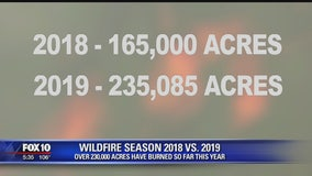 2019 wildfire season has seen less fires, but more acres burned