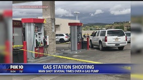 Payson PD: Man shot multiple times at gas station; suspect in custody