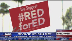 One-on-One with Doug Ducey on teacher requests ahead of walkouts