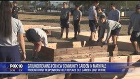 Phoenix first responders recreate community garden for Cartwright School District