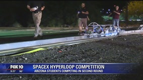 Arizona students competing in second round of a Hyperloop competition put on by SpaceX