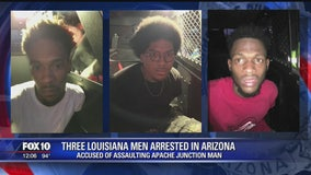 3 Louisiana men arrested in Arizona in assault, robbery case