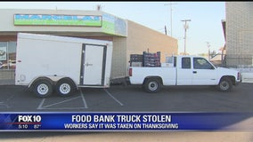 El Mirage food bank's delivery truck stolen on Thanksgiving