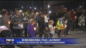 Vigil held for fallen El Mirage Police officer