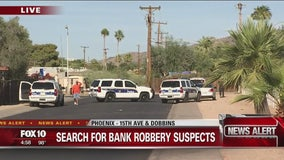 Search underway for bank robbery suspects in South Phoenix