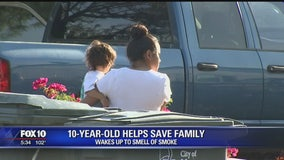10-year-old smells smoke, alerts family of house fire