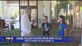 Barca Academy soccer players in Casa Grande offer hope to U.S.