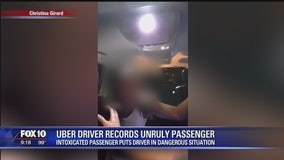 Intoxicated passenger puts Uber driver in a dangerous situation