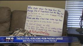Valley man seeks stolen family heirlooms