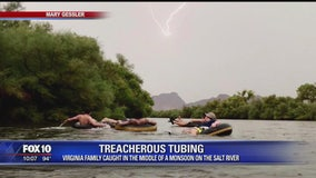 Virginia family gets caught in middle of monsoon while tubing down Salt River