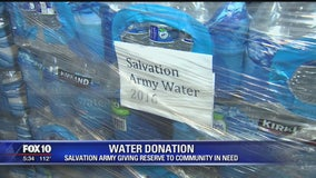 Salvation Army donates thousands of bottles of water to Cibecue homes