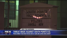Man accused of posting threat against South Pointe