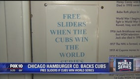Free sliders if Cubs win the World Series