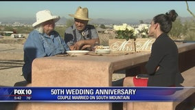 First couple to be married on South Mountain celebrates 50th anniversary