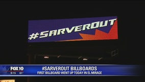 Billboard that calls on Robert Sarver to step down as Phoenix Suns' owner is up