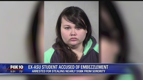 Ex-ASU student accused of stealing nearly $100,000 from her sorority