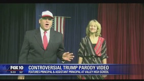 Admins placed on leave for video mocking Trump, Conway