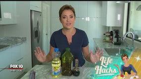 Life Hacks: Easy clean up for vinegar and oil bottles